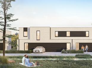 Lot 4 is een gesloten bebouwing in opbouw in moderne stijl (dubbele bouwlaag met plat dak) op een grondopp. van 195 m² en met een totale bewoonba