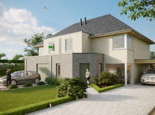 Ruime halfopen nieuwbouw woning te Velzeke!Deze nog te bouwen nieuwbouw woning is gelegen in het landelijke Velzeke. De woning is ingedeeld met op het