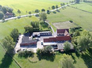 Op een boogscheut van de Belgische kust huisvest deze deels vernieuwde hoeve met bijgebouwen, paardenstallen en trainingspiste, vijver en fraai aangel