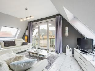 Ruim en lichtrijk dakappartement met 2 ruime slaapkamers, op een 500 meter van het centrum van Koksijde bad en op enkele wandelpassen van het strand.D