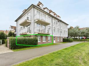 """In Residentie """"Saint-Aubin"""" gelegen in De Nieuwe Concessie in De Haan bieden wij u dit niet te evenaren appartement aan. Vlakbij het bos en het centru"""