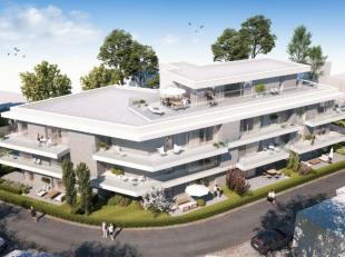 Dit appartement van 123m² is gelegen op de derde verdieping en omvat een inkomhal met vestiaire, een grote leefruimte met geïntegreerde keuk