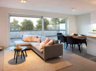 Het nieuwe appartement is volledig afgewerkt en bestaat uit een inkom met gastentoilet, badkamer met inloopdouche, 2 slaapkamers, living met modern in