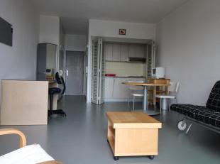 Algemeen:<br /> Gelegen aan de rustige achterzijde van een zeer goed verzorgd gebouw te Italiëlei, vinden we deze leuke studio terug van circa 35