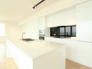 Quartier Tour & Taxis -  Superbe appartement 3 chambres de +/-150m² +Terrasse avec vue sur le canal composé comme suit: un hall d'entr