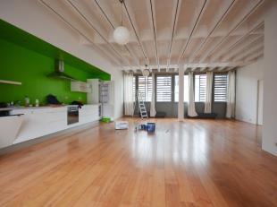 Quartier Midi - Bel appartement 2 chambres style loft de +/- 140m² + terrasse - Au 2ème étage d'un immeuble de 3 étages - Co