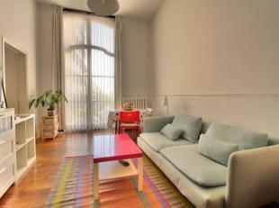 Quartier Faider - Idéalement situé. Magnifique appartement 1chambre de +/-60m² se composant comme suit: Hall d'entrée. Lumin