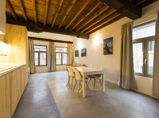 Dit knap en eigentijds duplex appartement, ligt op een steenworp van de Groenplaats, de Grote Markt en de Nationalestraat. Het werd ingericht met warm