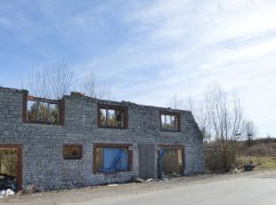 Terrain à bâtir de 10 ares ( 36 mètres de façade) sur environ 27 mètres de profondeur avec ruine situé &agrav
