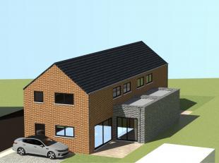 KEUMIEE : Beau terrain à bâtir plat avec permis accepté pour la construction d'une Villa contemporaine ( + - 155 m² ) 3 fa&cc