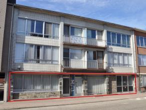 Gelijkvloers appartement van ca 330m², 2 ingangen, inpandige garage, tuin en kelder.<br /> Dit appartement bestaat uit een inkomhal, leefruimte,