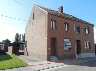 Te renoveren/ op te frissen HOB met garage gelegen te Linter, Klein Kouterstraat 3. Opp. 07a 65ca  KI 540 euro. Deze woning omvat op het gelijkvloers