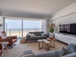2-slpk Appartement, gelegen op Zeedijk Zoute, vlakbij het Albertplein, met frontaal zeezicht...Samenstelling: Inkomhall met gastentoilet en vestiaire.
