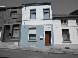 REF 572 - 7012 - JEMAPPES - Maison 2 façades.- Salon, Salle à Manger/Cuisine, 2 Chambres, Salle de Bains, Grenier aménageable, Ca
