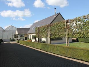 Zeer verzorgde serrebedrijf (plantenkwekerij) te koop te Overmere (Berlare) op 4,10 ha<br /> <br /> Bestaande uit : <br /> <br /> Mooie confortabele w