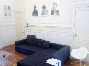 Saint-Gilles : Quartier Hôtel des Monnaies, splendide Appartement Duplex de 200m² avec de très beaux volumes et beaucoup de cachet,