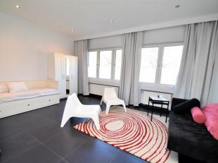Schaerbeek: Quartier Lambermont à proximité des commerces et transports beau Studio Meublé de 40m² composé : Hall d'e