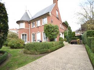 Bruxelles / Ixelles : Dans le prestigieux quartier Roosevelt à proximité du bois de la Cambre, des transports et commerces, magnifique M