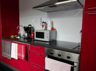 Modern appartement bestaande uit ruime living met veel lichtinval, een volledig geïnstalleerde keuken (met kookplaat, spoelbak, oven, dampkap), 2