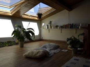 Appartement in het centrum van Gent. Het appartement bevindt zich op de bovenste verdieping en bestaat uit een inkom, een keuken, een leefruimte, een