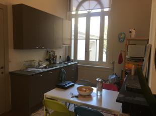 Dit zeer charmante en uiterst centraal gelegen studio-appartement maakt deel uit van een in oorsprong groot herenhuis. Het ligt op wandelafstand van h