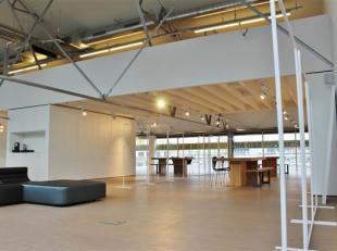 Laat u inspireren door deze multifunctionele ruimte die u kan gebruiken als showroom, kantoor, atelier,... Dankzij de grote ramen over de hele breedte
