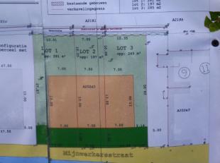 Mooi gelegen bouwgronden te koop in Mijnwerkersstraat te Moerbeke.Deze verkaveling bestaat uit twee bouwgrond voor half open bebouwing en 1 bouwgrond