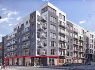Surface commerciale neuve dans un quartier en plein essor à Ixelles, à 1 km du Parlement Européen.Située au RDC d'un proje