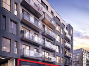 Surface commerciale neuve (Casco) dans un quartier en plein essor à Ixelles, à 1 km du Parlement Européen.Située au RDC d'