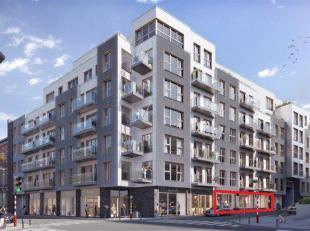 Kantooroppervlakte in een bevoorrechte omgeving in Elsene. Op de begane grond van een reconversieproject waar 13.000m² kantoren in woningen werde