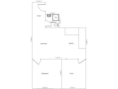 Appartement te koop in Gent, € 155.000