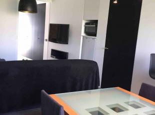 Recent volledig vernieuwde moderne studio met aparte slaapkamer.  Slaapkamer met dubbel bed en kastenwand.  In living 2 dubbele slaapzetels.  Ideaal v
