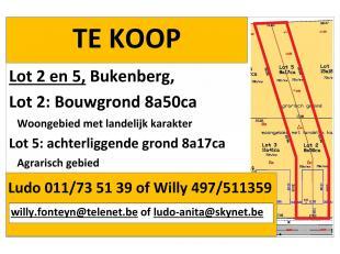 Balen-Olmen, Bukenberg, bouwgrond met achterliggende grond <br /> Gemeente Balen, afdeling 3 (Olmen), sectie D (70h en 70k) nieuwe verkaveling, het gr