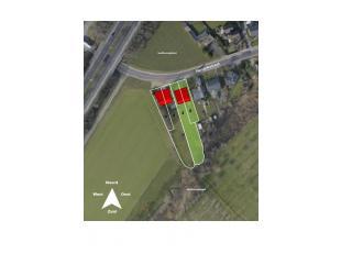 2 bouwgronden voor een halfopen bebouwing tussen Hasselt en St-truiden. <br /> Kenmerken: <br /> - rechte vorm, 10m breed, 50m diep (gelijkvloers: 119