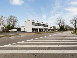 Commercieel uitstekend gelegen handelspand van maar liefst ca. 240 m² met dakappartement van ca. 117 m² en 3 aparte garages. Dit alles op ee