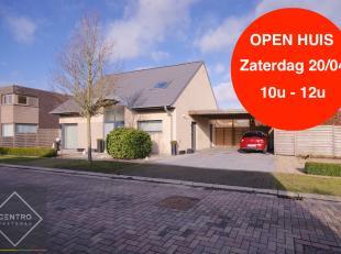 ENERGIEZUINIGE villa te Maldegem met 3 slpks (4 slpks mogelijk), dressing, dubbele carport en grote tuin!INDELING:Gelijkvloers:Inkomhal - LICHTRIJKE l