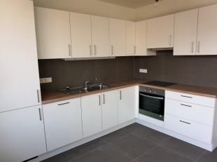 Dit appartement van 117m² werd recent volledig vernieuwd. Het beschikt over een ruime, zonnige woonkamer met open keuken, 2 slk, berging en badka