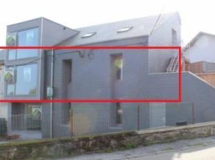 Lumineux et spacieux appartement (1er étage/année de construction : 2016, 2 chambres/1 salle de bains, +- 80m² habitables) avec ter