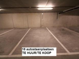 Ondergrondse parkeerplaatsen met nrs 5, 6, 10, 11 12, 37, 38, 41, 46, 60, 61 en 62 TE HUUR/TE KOOP te Residentie Lindepark in het centrum van Tervuren
