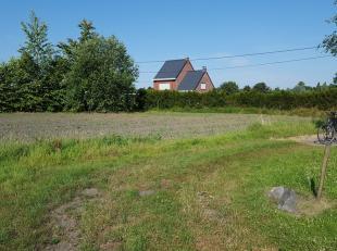 Een bouwgrond van 3500m2, waarvan 35m aan straatkant, met aangrenzend landbouwgrond. De landbouwgrond heeft een oppervlakte van 2,2ha. Mogelijkheid om