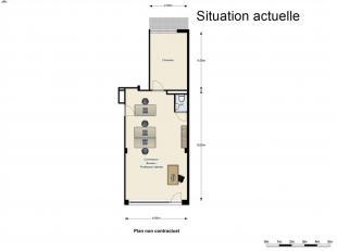 EXCLUSIVITE DIRECT-IMMO : QUARTIER MEISER Rez-de-chaussée de ± 55 m² + terrasse de 4m² + cave Affectation Mixte. Possibilit&ea