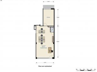 EXCLUSIVITE DIRECT-IMMO : QUARTIER MEISER Rez-de-chaussée de ± 55 m² + terrasse de 4m² + cave Affectation Mixte (magasin-appar