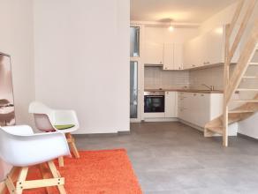 Deze creatief gerenoveerde woning heeft een indeling als volgt: leefruimte met open keuken, geen tuin, wel een nieuw ontworpen glaspartij van 1m²