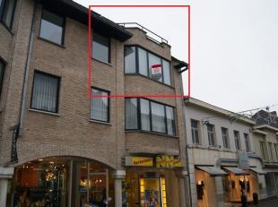 Ruim en lichtrijk appartement met 2 slaapkamers en terras, centrum Torhout.<br /> INDELING: inkomhal met gastentoilet, grote en lichtrijke leefruimte