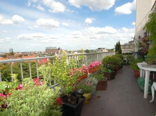 Churchill: High-Standing building, 150m² Apartment located on the 7th floors with 2 terraces and splendid view over Brussels, 2 bedrooms, 2 bathr