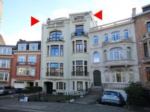 Square Vergote: trés beau duplex Penthouse dans un immeuble de standing datant de 1908, rénové en 2009, 202m² avec 2 terrass