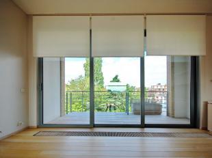 Duplex penthouse ruim en licht met 4-5 slaapkamers (4 met badkamer, 1 zonder) met grote ramen, groot terras met uitzicht op de tuin. Op de bovenste ve