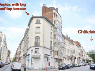 St GILLES: Uitstekende situatie, zeer gewild, Parvis de St Gillis! Bovenste verdieping duplex van 91m², 2 slaapkamers 1 klein kantoor met terras