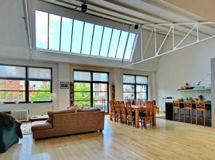 BASILIEK: dicht bij de Europese school, metro Simonis, Loft van 250m m² met zeer grote woon / eetkamer, terras, keuken, 3 slaapkamers, 2 met mezz