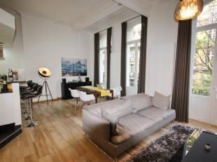 PARVIS DE ST GILLES : Dans un immeuble de caractère, superbe appartement avec un mobilier de qualité comprenant beau living salle &agrav